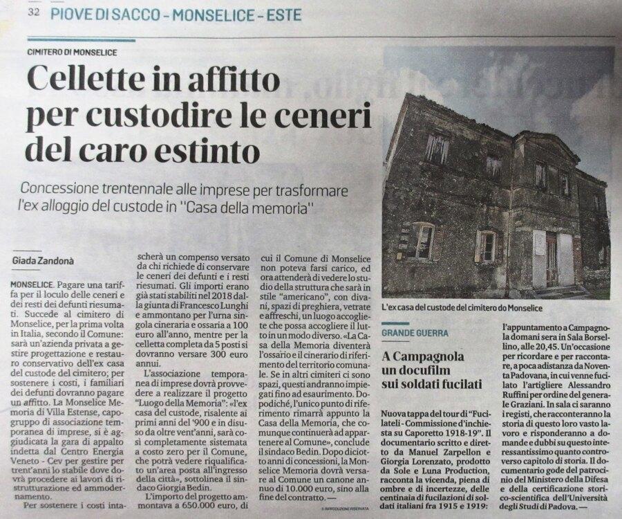 Giornale Mattino di Padova monselice-ex-casa-custode